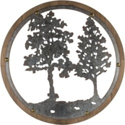 American Art Decor Wood Galvanized Tree Wall Decor found on Bargain Bro India from Macy's for $128.99