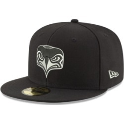 New Era Seattle Seahawks Black And White 59FIFTY Fitted Cap found on Bargain Bro India from Macy's for $39.99