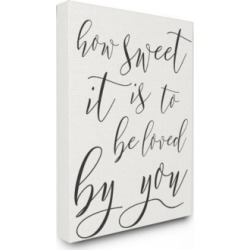 "Stupell Industries How Sweet It is Typography Canvas Wall Art, 30"" x 40"""