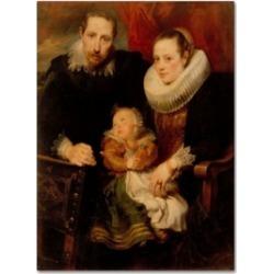 Van Dyck 'Family Portrait' Canvas Art - 32