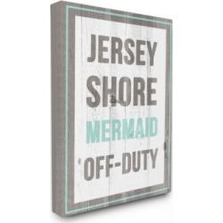 "Stupell Industries Jersey Shore Mermaid Off Duty Canvas Wall Art, 30"" x 40"""