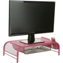 Mind Reader Metal Mesh Monitor Stand And Desk Organizer With Drawer found on Bargain Bro India from Macy's for $37.99