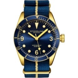 Stuhrling Men's Blue Nylon Strap Watch 41mm