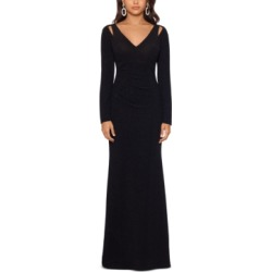 Xscape Glitter Cutout-Shoulder Gown found on MODAPINS from Macy's Australia for USD $135.35
