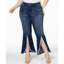I.n.c. Plus Size Tulip-Hem Jeans, Created for Macy's