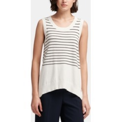 Dkny Striped Sleeveless Sweater found on MODAPINS from Macy's for USD $35.40
