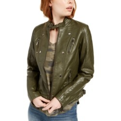 Jou Jou Juniors' Faux-Leather Jacket, Created for Macy's found on Bargain Bro India from Macys CA for $29.28