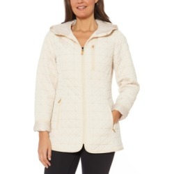 Jones New York Water-Resistant Hooded Quilted Jacket found on MODAPINS from Macy's for USD $150.00