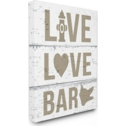 Stupell Industries Live Love Bark Canvas Wall Art, 30