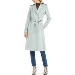 Tahari Faux-Suede Belted Trench Coat found on MODAPINS from Macy's for USD $220.00
