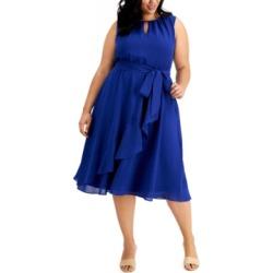 Jessica Howard Plus Size Ruffled Midi Dress found on Bargain Bro from Macy's Australia for USD $87.35