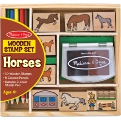 Melissa and Doug Kids Toys, Kids Horses Stamp Set Toys