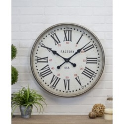 "Vip Home & Garden 24"" Round Metal Clock"