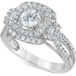 Diamond Multi-Halo Engagement Ring (1-1/4 ct. t.w.) in 14k White Gold found on Bargain Bro India from Macy's for $5591.60