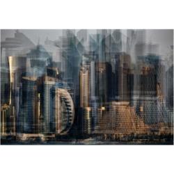 "Hans Wolfgang Hawerkamp Financial District Canvas Art - 15"" x 20"""