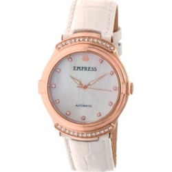 Empress Francesca Automatic White Leather Watch 35mm found on Bargain Bro India from Macy's for $173.99