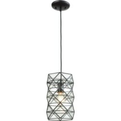 Tetra 1 Light Pendant in Oil Rubbed Bronze with Clear Glass