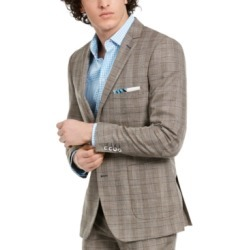 Paisley & Gray Men's Dover Slim-Fit Tan & Blue Plaid Blazer found on MODAPINS from Macy's for USD $255.00