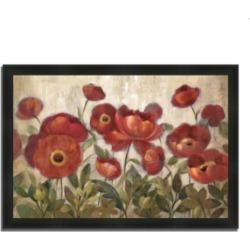 Tangletown Fine Art Daydreaming Flowers by Silvia Vassileva Framed Painting Print, 33