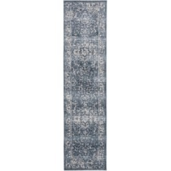 Safavieh Charleston Navy and Creme 2' x 10' Runner Area Rug found on Bargain Bro Philippines from Macy's for $64.00