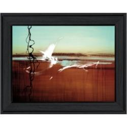 "Trendy Decor 4U Liquid Paint by Cloverfield Co, Ready to hang Framed Print, Black Frame, 19"" x 15"""