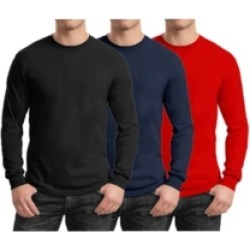 Galaxy By Harvic Men's 3-Pack Egyptian Cotton-Blend Long Sleeve Crew Neck Tee found on MODAPINS from Macy's for USD $45.00