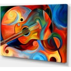 Designart Music And Rhythm Abstract Canvas Art Print - 32