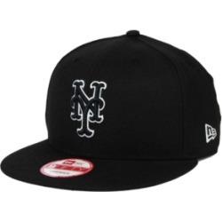 New Era New York Mets Black White 9FIFTY Snapback Cap