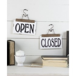 """Vip Home International Metal """"Open/Closed"""" Sign"""