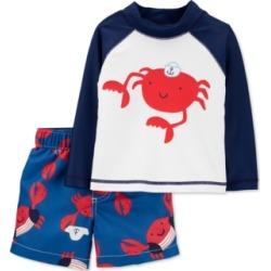 Carter's Baby Boys 2-Pc. Crab Rash Guard & Swim Shorts Set