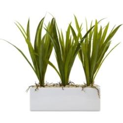 Nearly Natural Artificial Grass in Rectangular Planter