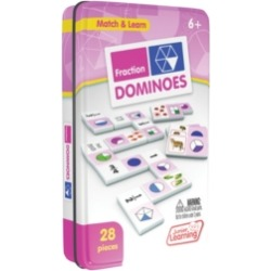 Junior Learning Fraction Dominoes Match and Learn Educational Learning Game