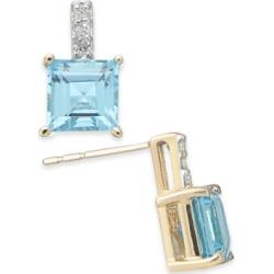Rhodolite Garnet (2-9/10 ct. t.w.) & Diamond Accent Drop Earrings in 14k Gold(Also Available in Blue Topaz)