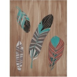 June Erica Vess Driftwood Feathers Ii Canvas Art - 15