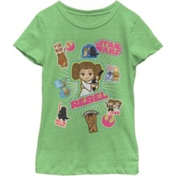 Fifth Sun Star Wars Big Girl's The Kawaii Stickers Short Sleeve T-Shirt found on Bargain Bro India from Macys CA for $23.08