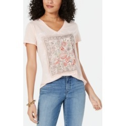 Style & Co V-Neck Graphic T-Shirt, Created for Macy's found on MODAPINS from Macy's for USD $14.99