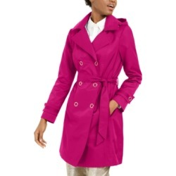 Anne Klein Double-Breasted Hooded Water-Resistant Trench Coat found on MODAPINS from Macy's for USD $79.99