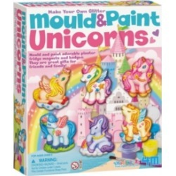 4M Make Your Own Glitter Mould And Paint Unicorns Kit
