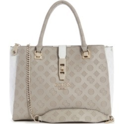 Guess Peony Debossed Logo Girlfriend Satchel found on Bargain Bro India from Macy's for $118.00