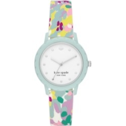 kate spade new york Morningside Multicolored Silicone Watch, 34MM