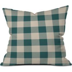 Deny Designs Zoe Wodarz Cozy Woods Plaid Throw Pillow