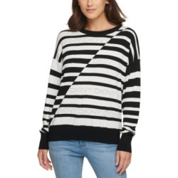Dkny Striped Logo Sweater found on MODAPINS from Macy's for USD $79.00