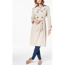 London Fog Belted Double-Breasted Water-Resistant Trench Coat found on MODAPINS from Macys CA for USD $116.14