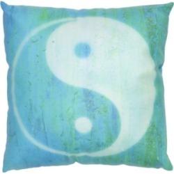 "Red Lantern Yin Yang Pillow, 14.25"" x 14.25"""