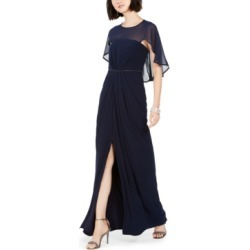 Adrianna Papell Ruched-Cape Gown found on MODAPINS from Macy's Australia for USD $98.33