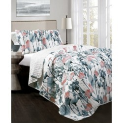 Zuri Flora 3-Pc Set Full/Queen Quilt Set found on Bargain Bro India from Macy's for $155.99