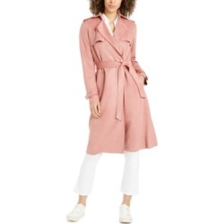 Tahari Faux-Suede Belted Trench Coat found on MODAPINS from Macy's Australia for USD $140.31