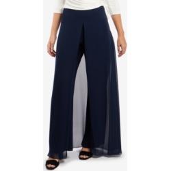 Msk Chiffon-Overlay Walk-Through Pants found on MODAPINS from Macy's Australia for USD $73.57