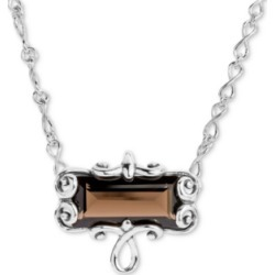 "Carolyn Pollack Smoky Quartz Pendant Necklace (11-3/4 ct. t.w.) in Sterling Silver, 16"" + 2"" extender"