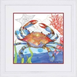 "Paragon Oceana Crab 1 Framed Wall Art, 37"" x 37"""